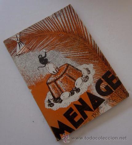 Libros antiguos: MENAGE: NOVIEMBRE DE 1933 Y MARZO DE 1934 - Foto 6 - 55080814