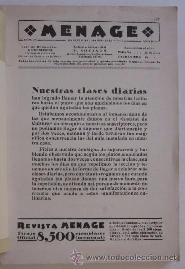Libros antiguos: MENAGE: NOVIEMBRE DE 1933 Y MARZO DE 1934 - Foto 7 - 55080814