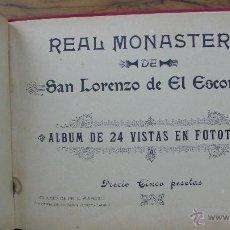 Libros antiguos: REAL MONASTERIO DE SAN LORENZO DE EL ESCORIAL. ALBUM EN FOTOTIPIA. C. 1920. . Lote 55083175