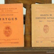 Libros antiguos: 7301 - BIBLIOTECA POPULAR DE L'AVENÇ. 13 EJEM. VV. AA(VER DESCRIP). 1904-1925.. Lote 55230009