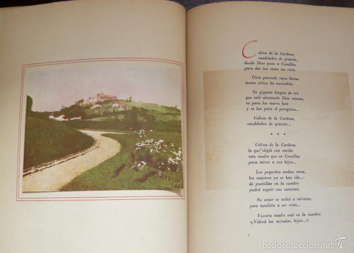 Libros antiguos: COMILLAS ITINERARIO LÍRICO RAMÓN CUÉ S.JDEDICADO A JUAN Y A CLAUDIO GÜELL MARQUÉS DE COMILLAS - Foto 2 - 55235530