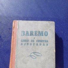 Libros antiguos: CURIOSO LIBRO DE CUENTAS AJUSTADAS BAREMO CALCULADORA DE BOLSILLO DE ÉPOCA. Lote 55328180