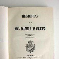 Libros antiguos: MEMORIAS DE LA REAL ACADEMIA DE CIENCIAS DE MADRID TOMO II (1853). Lote 55356470