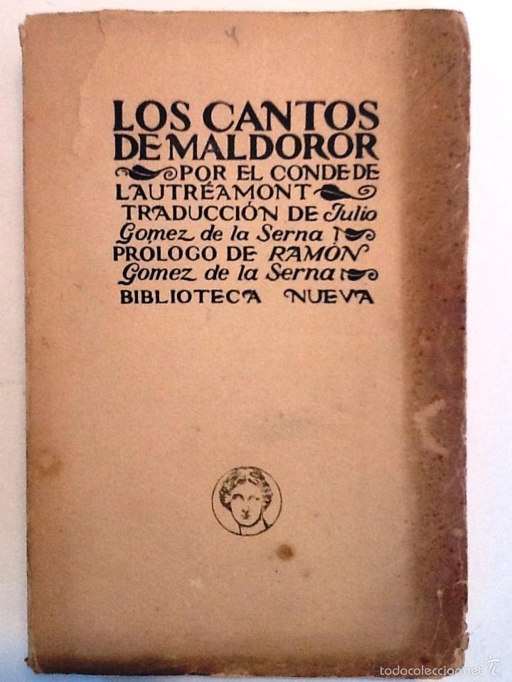 LOS CANTOS DE MALDOROR. CONDE DE LAUTREAMONT. TRADUCCION GOMEZ DE LA SERNA. (Libros antiguos (hasta 1936), raros y curiosos - Literatura - Narrativa - Otros)
