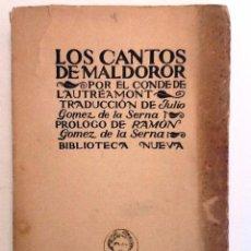 Libros antiguos: LOS CANTOS DE MALDOROR. CONDE DE LAUTREAMONT. TRADUCCION GOMEZ DE LA SERNA.. Lote 55365244