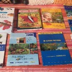 Libros antiguos: GRAN LOTE DE LIBROS DE PECES DE ACUARIO. Lote 55373806