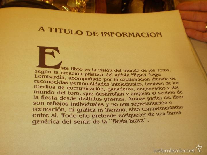 Libros antiguos: GRAN LIBRO DE TOROS - PINTOR LOMBARDÍA - Foto 13 - 55636256