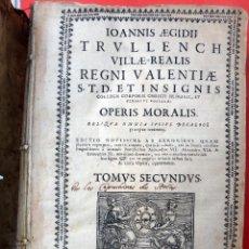 Libros antiguos: LIBRO PERGAMINO, REINO DE VALENCIA 1701, OPERIS MORALIS , TOMO SEGUNDO , ORIGINAL. Lote 55686838