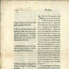 Libros antiguos: CARTA A FELIPE IV. MARCELINO DE FARIA Y GUZMAN. Lote 55818421