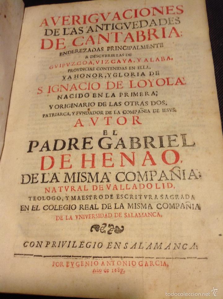 Averiguaciones De Las Antig 252 Edades De Cantabria Comprar