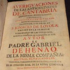 Libros antiguos: AVERIGUACIONES DE LAS ANTIGÜEDADES DE CANTABRIA / VASCO / HENAO / HISTORIA. Lote 55890856