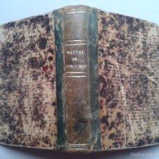 Libros antiguos: MANUAL DE CONSUMOS. MADRID. AÑO 1898.. Lote 55918704
