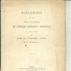 Libros antiguos: LA PROTECCIÓN ARANCELARIA. DISCURSO. GUILLERMO J. DE OSMA. Lote 55919247