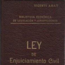Libros antiguos: LIBRO II TOMO BIBLIOTECA ECONÓMICA DE LEGISLACIÓN Y JURISPRUDENCIA LEY ENJ, CIVIL VICENTE AMAT. Lote 56005919