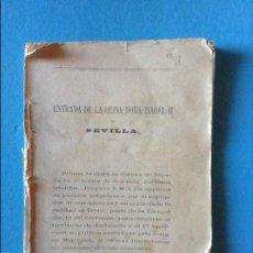 Libros antiguos: ENTRADA DE LA REINA DOÑA ISABEL II. Lote 56019608