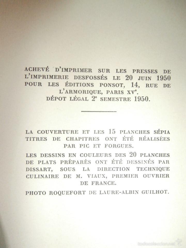 Libros antiguos: Libro - Recetas de cocina, En Francés- Bon Plats, Bons Vins, Curnonsky, 1950, Maurice Ponsot éditeur - Foto 14 - 56024393