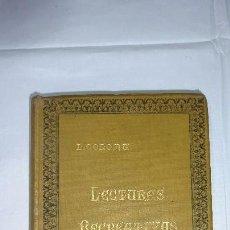 Libros antiguos: LECTURAS RECREATIVAS L. COLOMA 1902. Lote 56028804