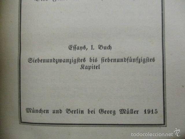 Libros antiguos: Cefammelte Gchriften, Richel de Montaignes 1915 (en aleman) - Foto 8 - 56031687