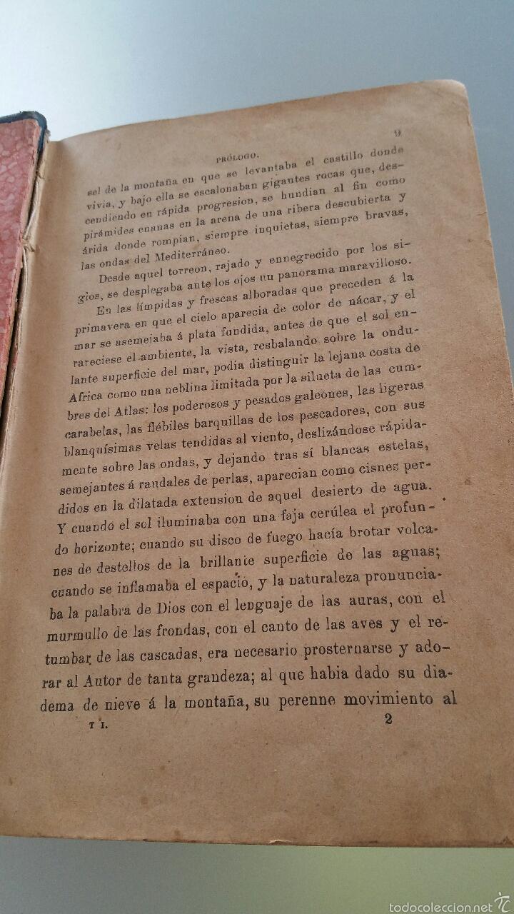 Libros antiguos: DON JUAN TENORIO - TOMO I y II- 1883 - 22CM X 15´5CM - 2 LAMINAS DE DIBUJO A COLOR - Foto 3 - 53885649