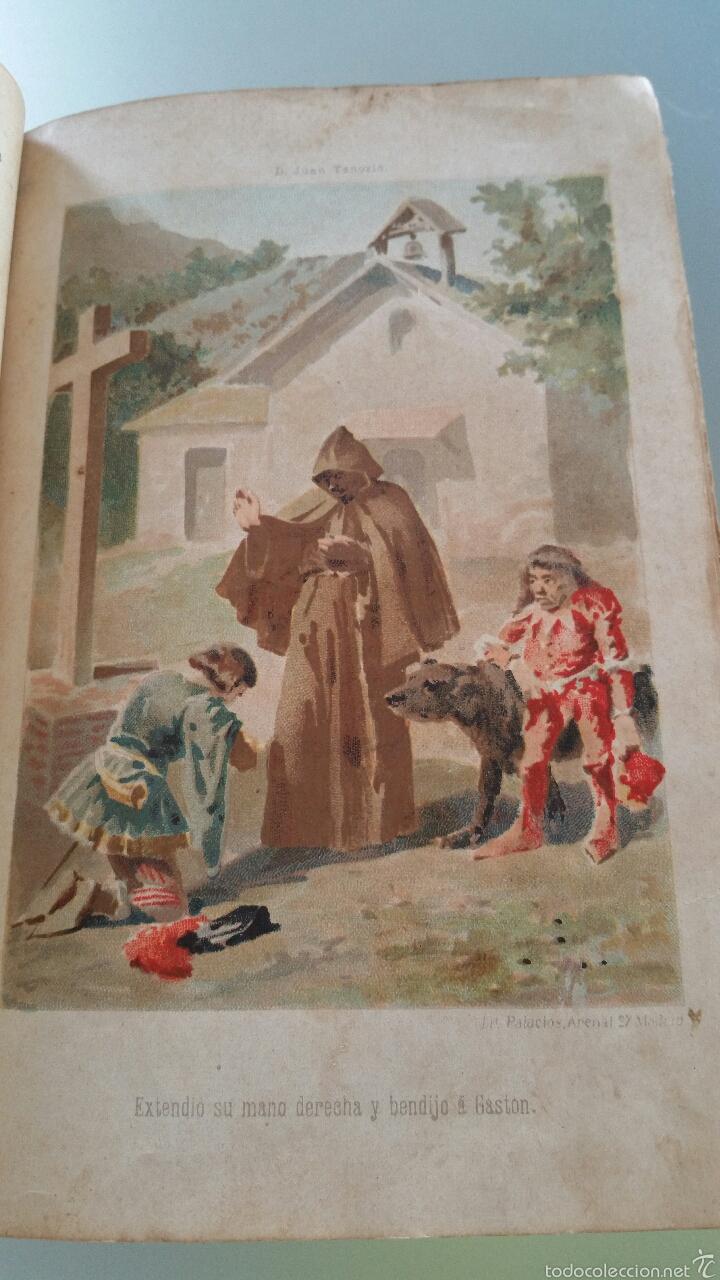 Libros antiguos: DON JUAN TENORIO - TOMO I y II- 1883 - 22CM X 15´5CM - 2 LAMINAS DE DIBUJO A COLOR - Foto 4 - 53885649