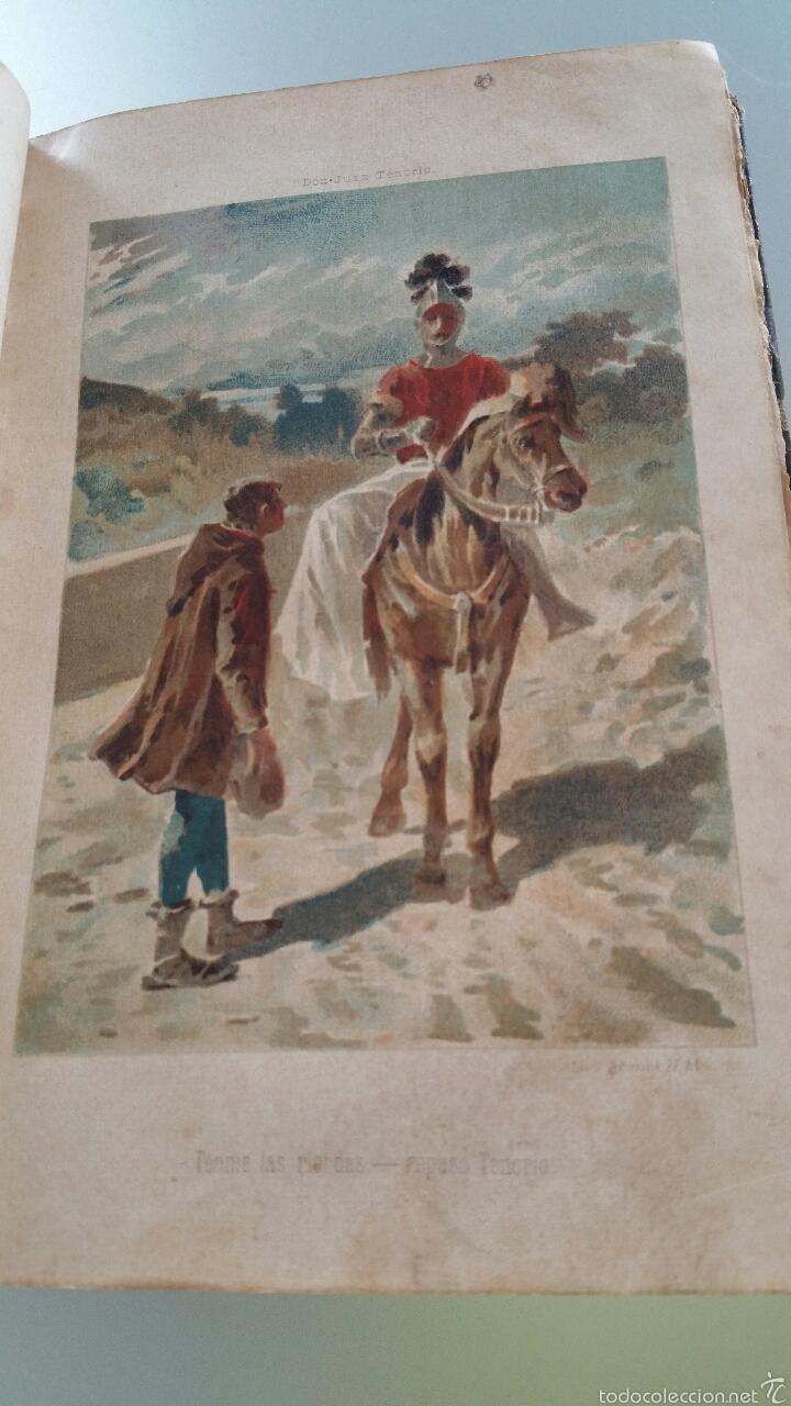 Libros antiguos: DON JUAN TENORIO - TOMO I y II- 1883 - 22CM X 15´5CM - 2 LAMINAS DE DIBUJO A COLOR - Foto 5 - 53885649