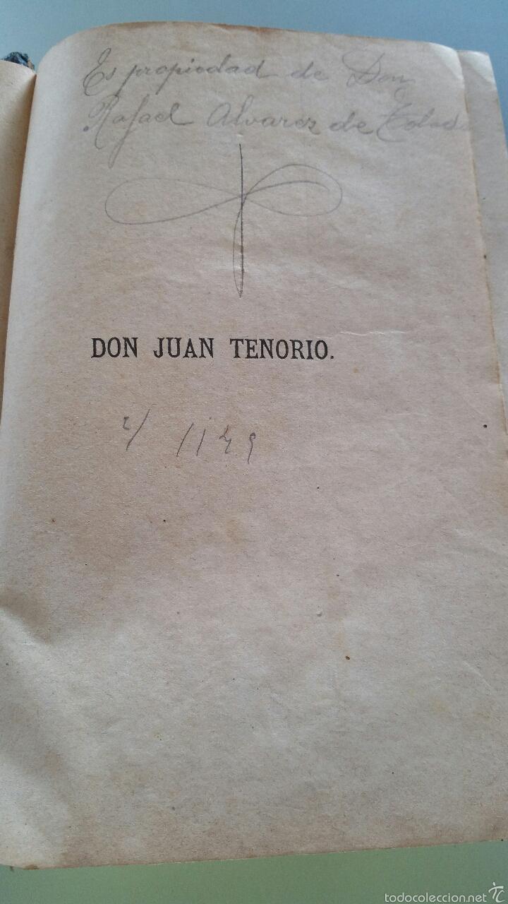 Libros antiguos: DON JUAN TENORIO - TOMO I y II- 1883 - 22CM X 15´5CM - 2 LAMINAS DE DIBUJO A COLOR - Foto 8 - 53885649
