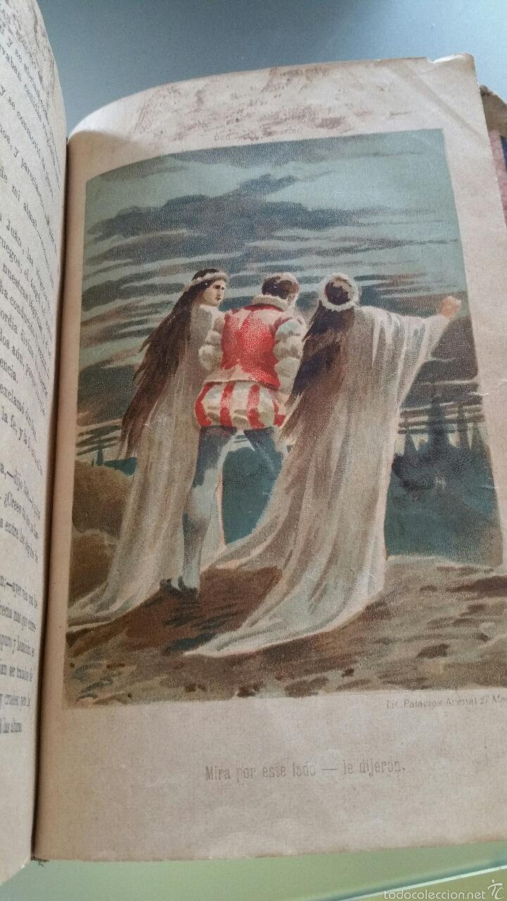 Libros antiguos: DON JUAN TENORIO - TOMO I y II- 1883 - 22CM X 15´5CM - 2 LAMINAS DE DIBUJO A COLOR - Foto 11 - 53885649