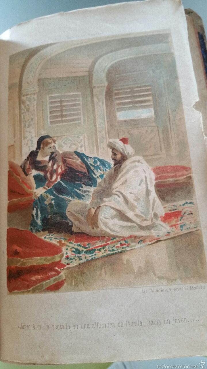 Libros antiguos: DON JUAN TENORIO - TOMO I y II- 1883 - 22CM X 15´5CM - 2 LAMINAS DE DIBUJO A COLOR - Foto 12 - 53885649