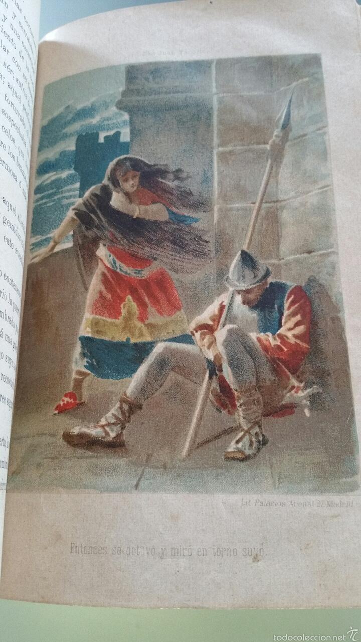 Libros antiguos: DON JUAN TENORIO - TOMO I y II- 1883 - 22CM X 15´5CM - 2 LAMINAS DE DIBUJO A COLOR - Foto 15 - 53885649