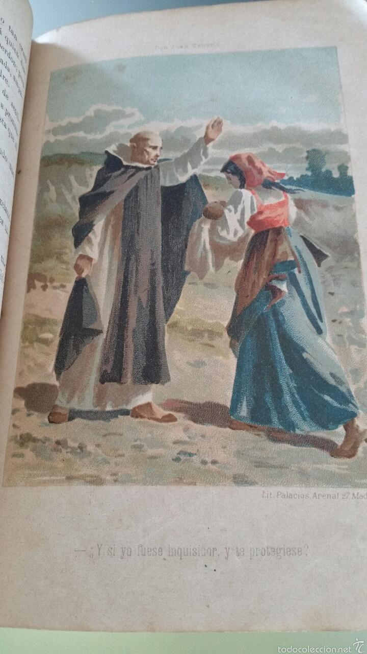 Libros antiguos: DON JUAN TENORIO - TOMO I y II- 1883 - 22CM X 15´5CM - 2 LAMINAS DE DIBUJO A COLOR - Foto 16 - 53885649