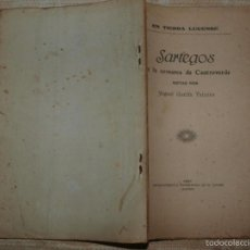 Libros antiguos: EN TIERRA LUCENSE. SARTEGOS DE LA COMARCA DE CASTROVERDE. LUGO, 1920. GALICIA. HISTORIA LOCAL. . Lote 56088127