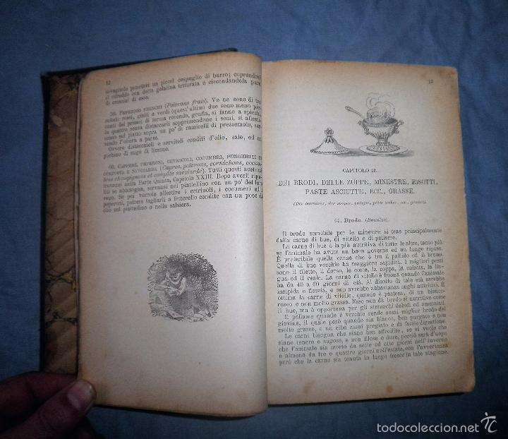 Libros antiguos: LA GASTRONOMIA MODERNA - GIUSEPPE SORBIATTI - AÑO 1888 - EXCEPCIONAL EDICION ORIGINAL. - Foto 5 - 56127475