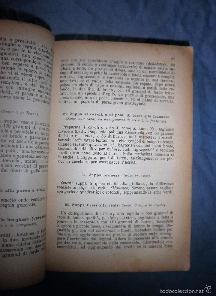 Libros antiguos: LA GASTRONOMIA MODERNA - GIUSEPPE SORBIATTI - AÑO 1888 - EXCEPCIONAL EDICION ORIGINAL. - Foto 6 - 56127475