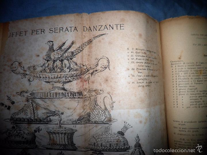 Libros antiguos: LA GASTRONOMIA MODERNA - GIUSEPPE SORBIATTI - AÑO 1888 - EXCEPCIONAL EDICION ORIGINAL. - Foto 12 - 56127475