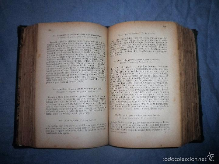 Libros antiguos: LA GASTRONOMIA MODERNA - GIUSEPPE SORBIATTI - AÑO 1888 - EXCEPCIONAL EDICION ORIGINAL. - Foto 13 - 56127475