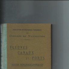 Libros antiguos: 1924 - RÍOS CANALES Y PUERTOS - INTERESANTE BIBLIOGRAFÍA DE TODO EL MUNDO DE 1916 A 1920. Lote 56131447