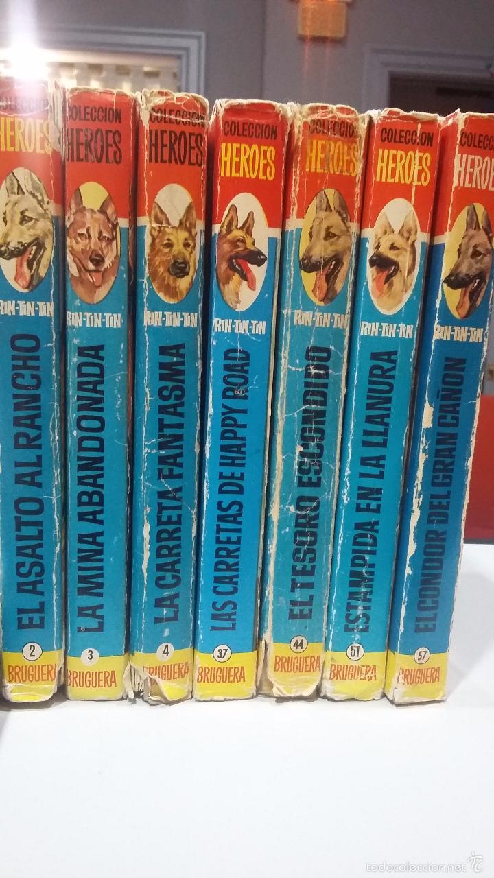 Libros antiguos: RIN TIN TIN: 7 TOMOS. COLECCION HEROES DE BRUGUERA - Foto 2 - 56155388
