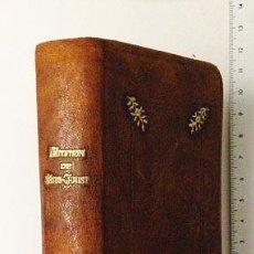 Libros antiguos: KEMPIS. IMITATION DE JÉSUS-CHRIST (1918) PLENA PIEL OCRE, CON DECORACIÓN EN PLANOS. CORTES DORADOS.. Lote 56167034