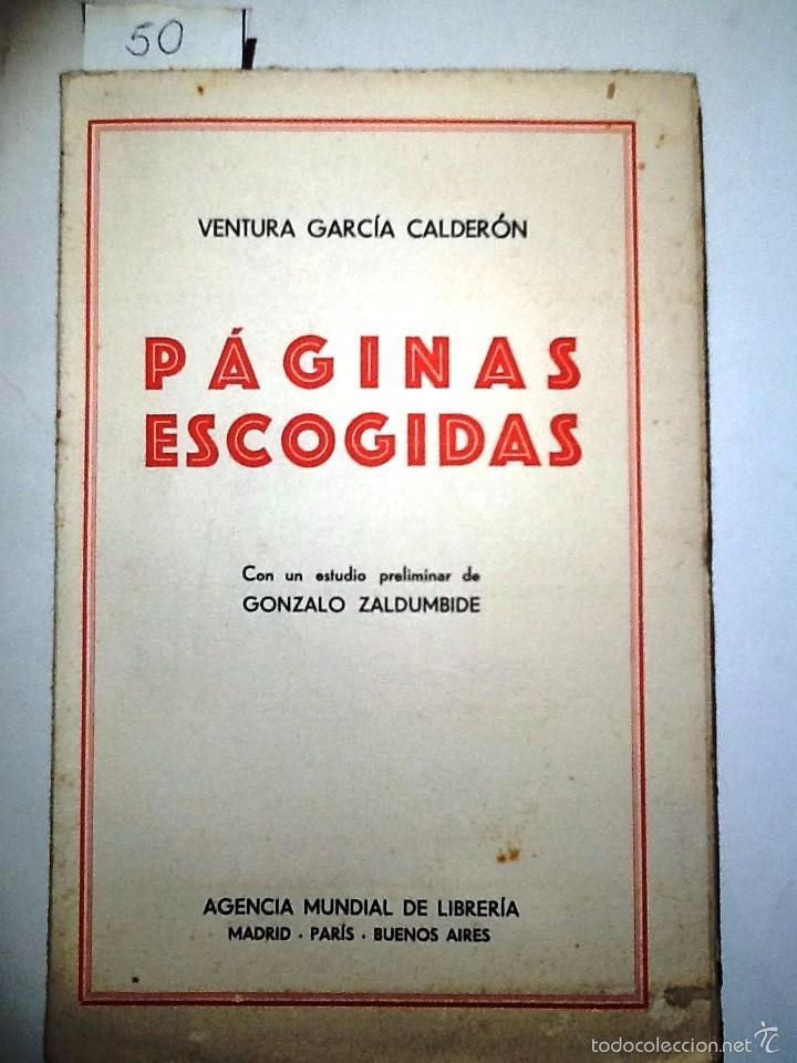 Paginas Escogidas Ventura Garcia Calderon Est Comprar