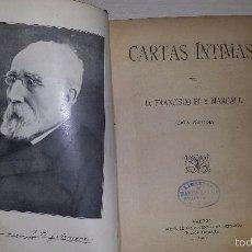 Libros antiguos: CARTAS ÍNTIMAS (1911) FRANCISCO PI Y MARGALL. Lote 56192231