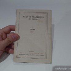 Libros antiguos: ANTIGUO LIBRO CATALAN DE COCINA, DE 1922, LLIÇONS PRACTIQUES DE CUINA. Lote 56210989