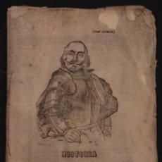 Libros antiguos: PLIEGO DE CORDEL. CRISTOBAL COLON 1862. Lote 56225317