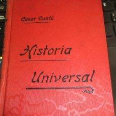 Libros antiguos: HISTORIA UNIVERSAL TOMO 1 GÉNESIS HEBREOS INDIA CÉSAR CANTÚ. Lote 56231353