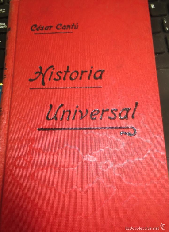 HISTORIA UNIVERSAL TOMO 23 CÉSAR CANTÚ (Libros Antiguos, Raros y Curiosos - Historia - Otros)