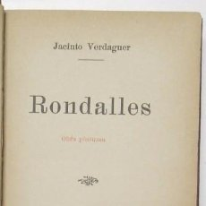 Libri antichi: RONDALLES - JACINT VERDAGUER. Lote 56235513