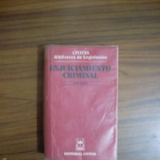 Libros antiguos: ENJUICIAMIENTO CRIMINAL SEXTA EDICIÓN. Lote 56301390