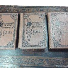 Libros antiguos: OBRAS DRAMÁTICAS DE EURÍPIDES - POR EDUARDO MUER Y BARBERY - TOMOS I, II Y III - MADRID - 1910 -. Lote 56305820