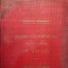 Libros antiguos: REDES GEODÉSICAS 1º, 2º Y 3º ORDEN PROVINCIA DE MADRID. (TODOS LOS PUEBLOS) INSTITUTO GEOGRÁFICO. Lote 56320314