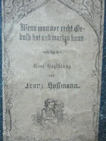 Libros antiguos: Wenn Man Nur Recht Gebult Hat! Franz Hoffman - 1865 - con ilustraciones B/N de caza (ver fotos) - Foto 2 - 56327051