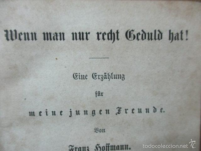 Libros antiguos: Wenn Man Nur Recht Gebult Hat! Franz Hoffman - 1865 - con ilustraciones B/N de caza (ver fotos) - Foto 7 - 56327051